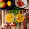 Mango-Basil-Pomegranate Daiquiri