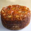 Upside down Carrot+Coconut+Ginger Cake