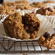 Cranberry Walnut Bran Muffins
