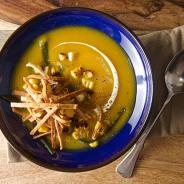 Roasted Pumpkin-Poblano Soup