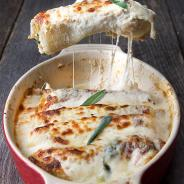 Butternut squash Cannelloni with Walnut-Sage Béchamel Sauce