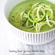 Creamy Basil-Zucchini Noodle Soup