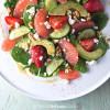 Spinach Ambrosia Salad with Dijon-honey-grapefruit vinaigrette