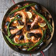 Grilled Seafood Paella Valenciana