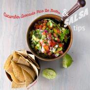 Cucumber Avocado Pico de Gallo Salsa