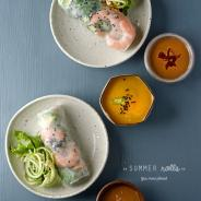 Summer Rolls with Mango Ginger dipping sauce