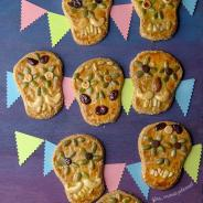 Day of the Dead Amaranth Skull Cookies