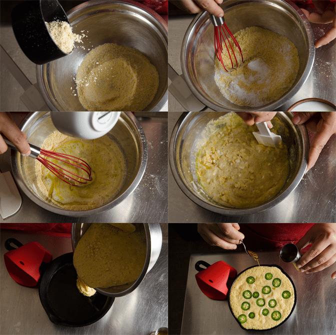 Tomatoe-Salad-and-Honey-Jalapeño-Corn-Bread_steps for making corn bread