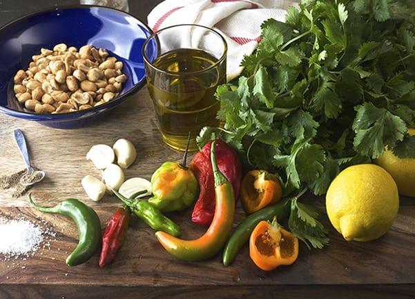 Seared-Rainbow-Trout_Cilantro-pesto_-ingredients_Yes,more-please!
