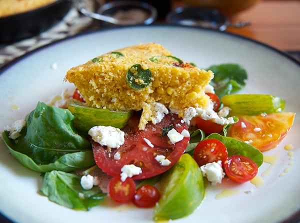 Tomatoe-Salad-and-Honey-Jalapeño-Corn-Bread_yes-more-please