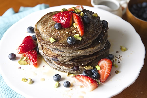 Blue Berry Orange Buckwheat Pancakes ~ Yes, more please!