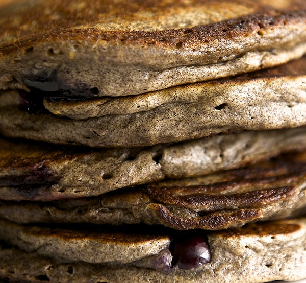Blue Berry Orange Buckwheat Pancakes_you are so fluffy!!! ~ Yes, more please!