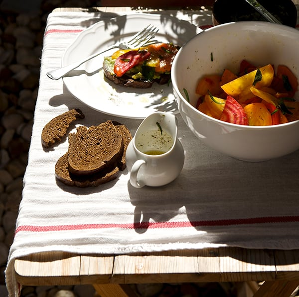 Beet-Salad_avocado-spread_pumpernickel-crostini_-Golden-and-Chioggia-Red-beets_under-the-sun