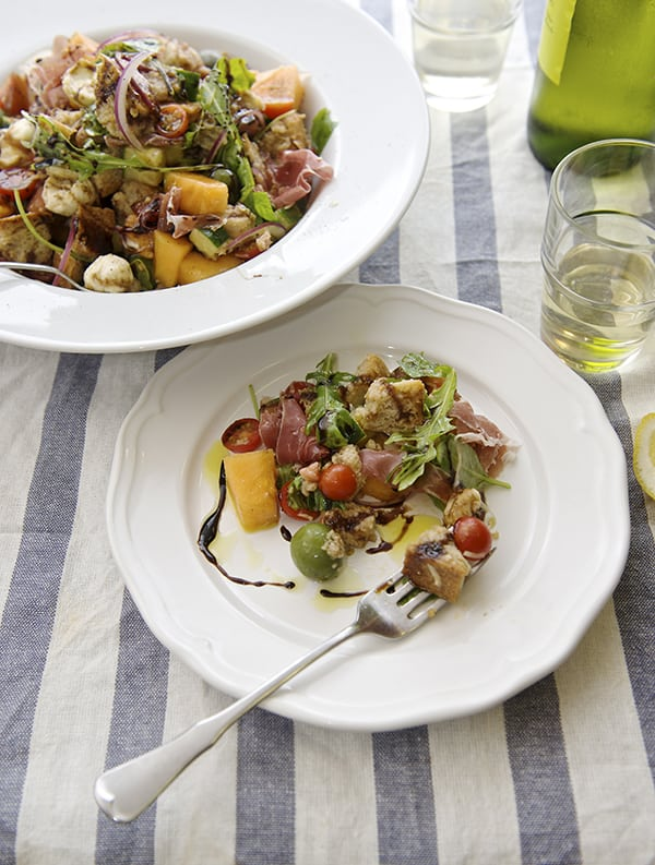 Panzanella Melon Salad_perfect summer brunch!  ~ Yes, more please!