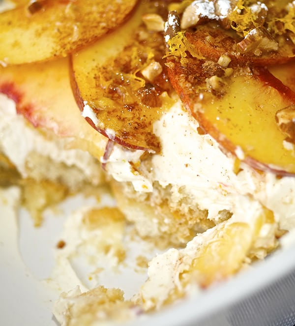 Peach & Cinnamon Trifle_bite me! ~ Yes, more please!
