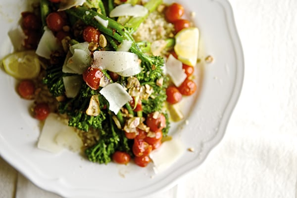 Sauteed Broccolini & Lemon Quinoa_Yes,more please!