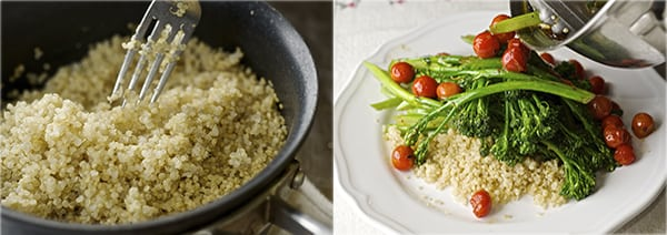 Sauteed Broccolini & Lemon Quinoa_fluffy quinoa
