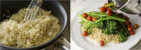 Sauteed Broccolini & Lemon Quinoa_fluffy quinoa