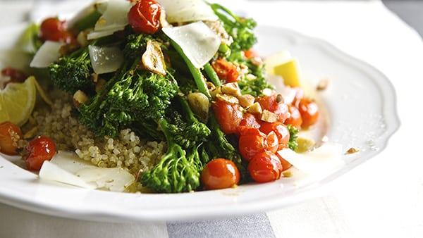 Sauteed Broccolini & Lemon Quinoa_healthy and delicious