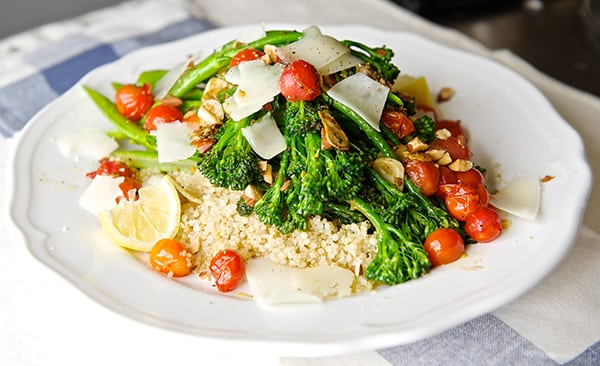 Sauteed-Broccolini-&-Lemon-Quinoa_healthy-and-delicious_Yes,more-please!