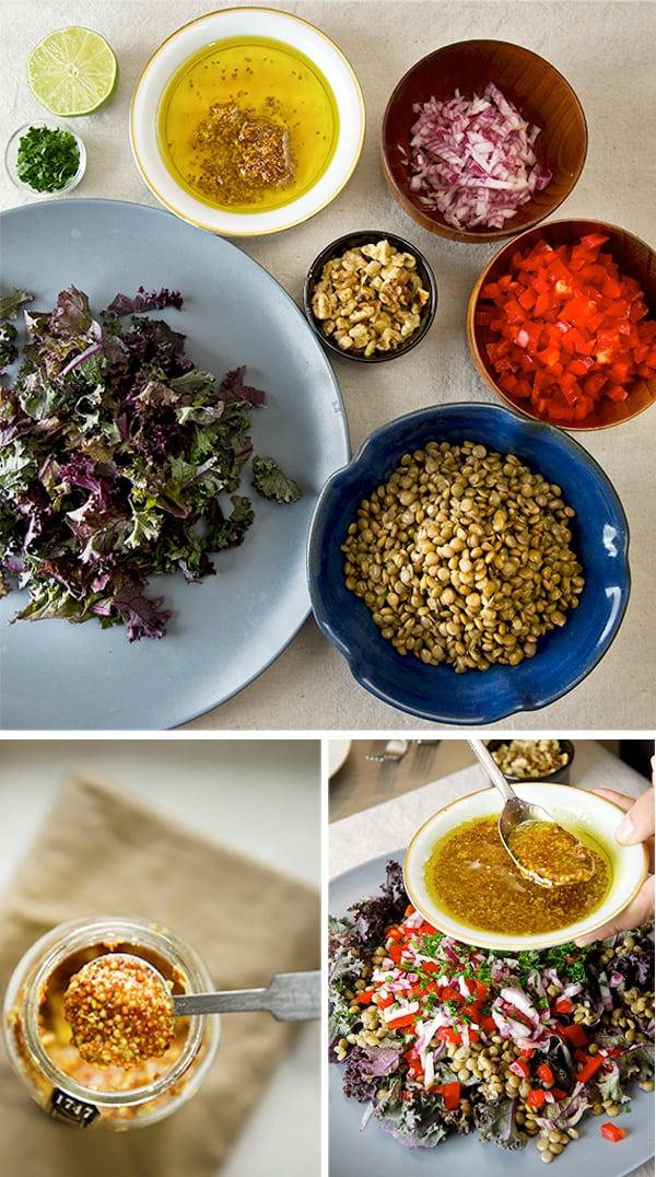 Kale-and-Lentil-Salad-with-Honey--Mustard-Vinaigrette_ingredients-layout