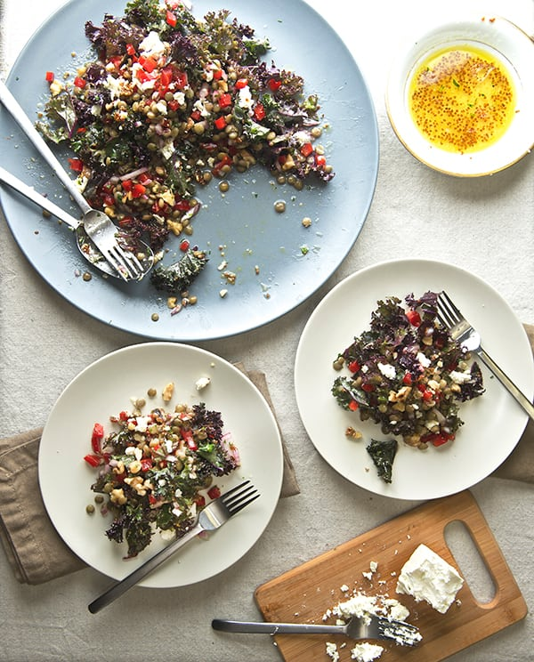 Kale-and-lentil-salad-with-honey-mustard-vinaigrette_Yes,-more-please!