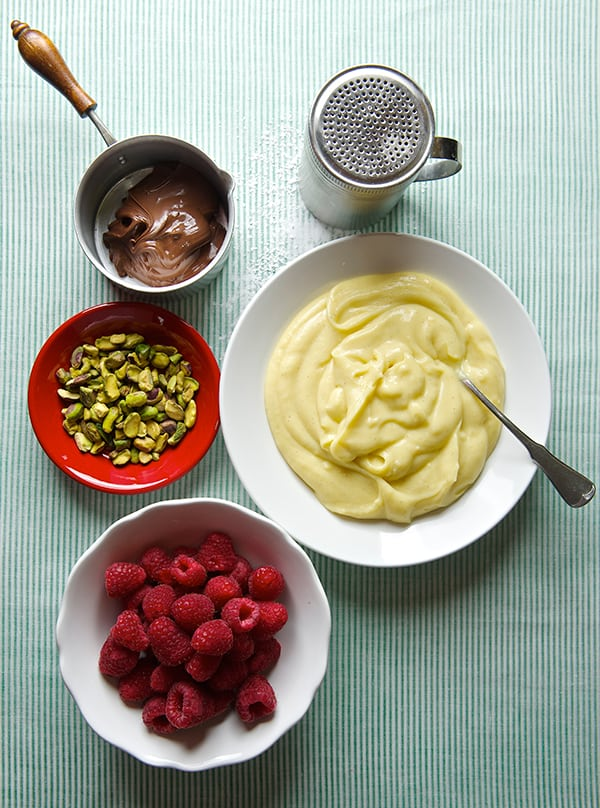 Raspberry Pistachio Tart-ingredients
