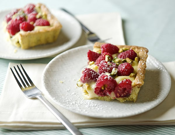 Raspberry Pistachio Tart_summer dessert for two