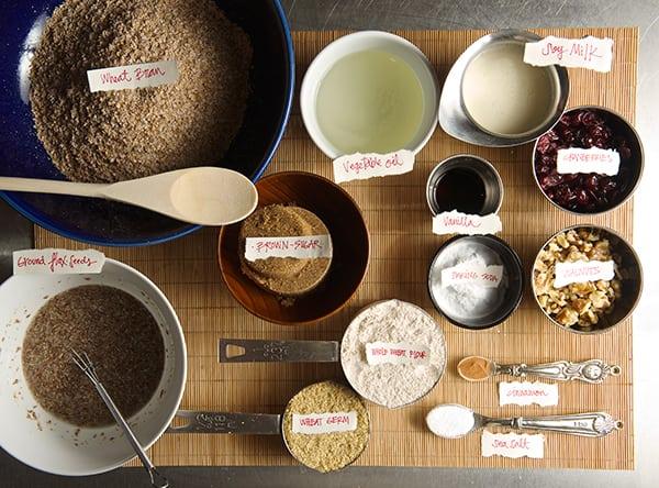 Cranberry Walnut Bran Muffins_mise en place