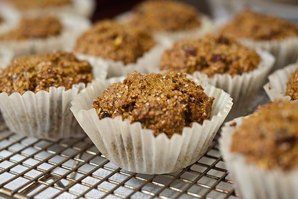 Cranberry Walnut Bran Muffins_muffins on cooling rack