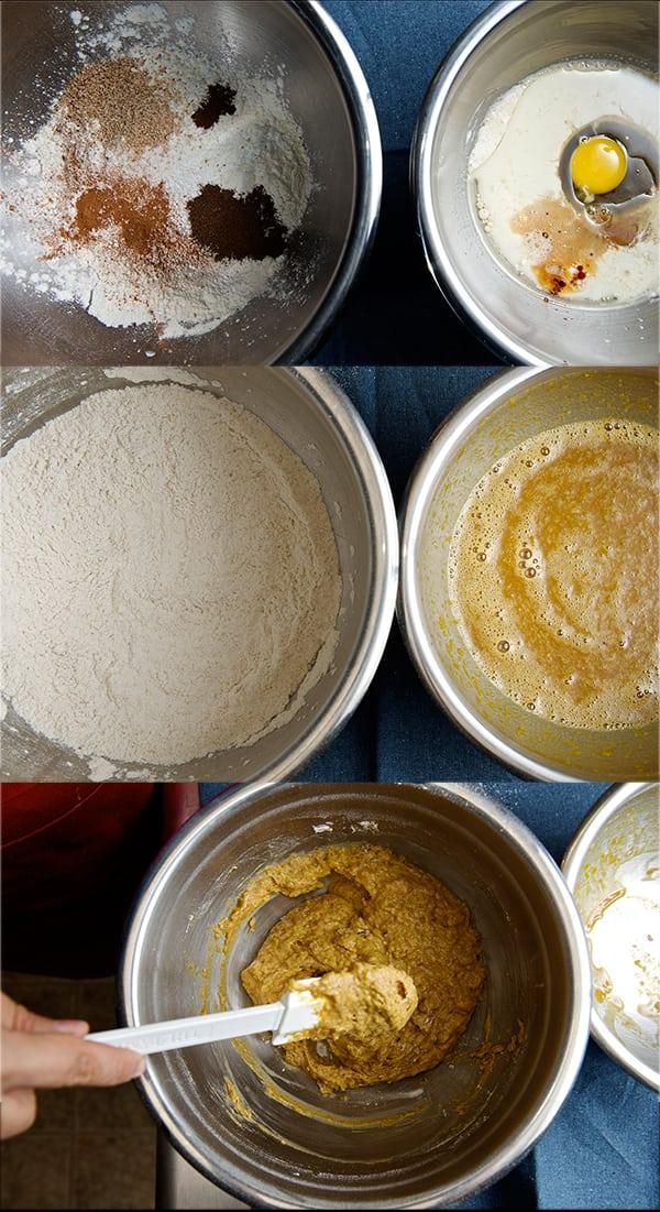 Pumpkin_doughnut_bites_mixing process