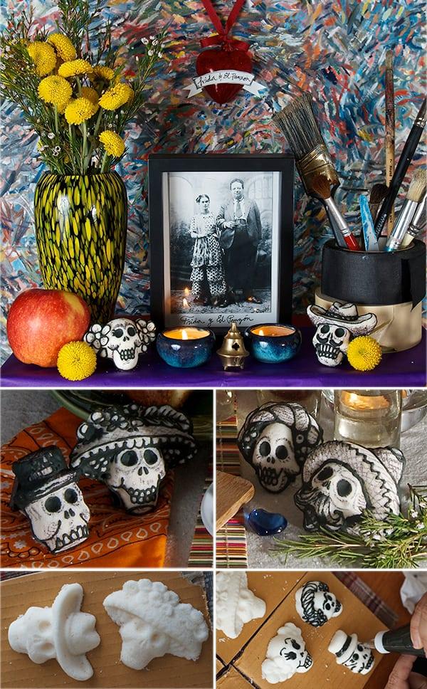 Sugar-skulls_La-catrina_Frida-y-los-caudillos