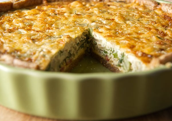 Fennel-Shallot-Bacon-&-Edam-Quiche~Yes,-more-please!