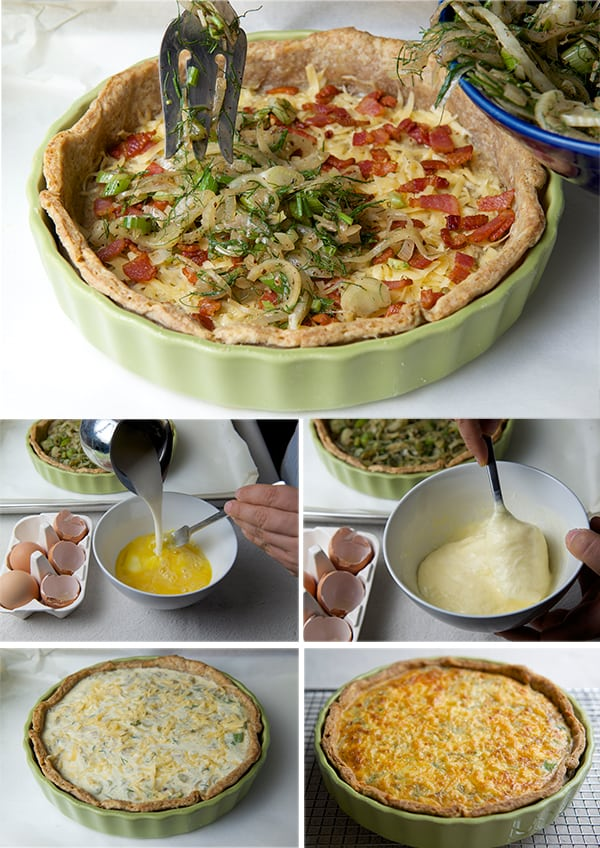 Fennel-Shallot-Bacon-&-Edam-Quiche_assambling