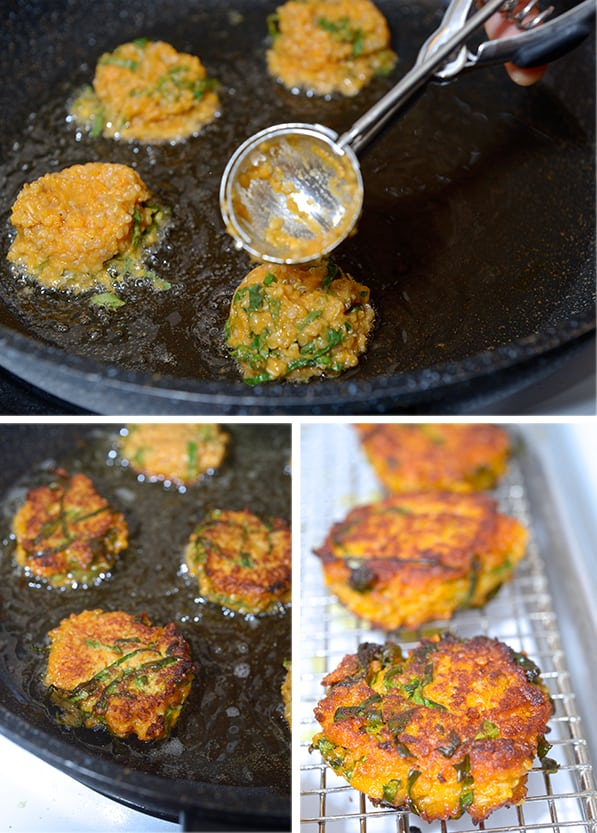 Kale-Sweet potatoe-and-Quinoa-Fritters_pan frying