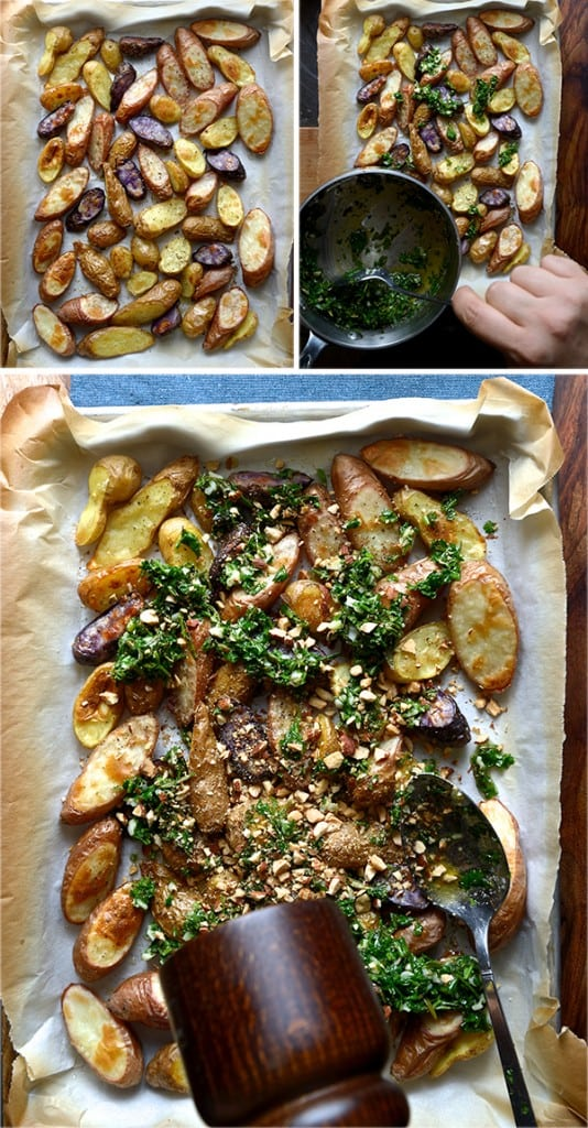 Roasted-fingerlings-potatoes-with-garlic,-herbs-and-aldmonds