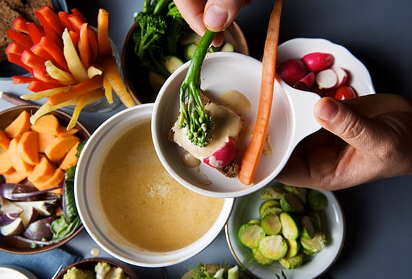 Bagna-Cauda-warm-dipping-vegetables