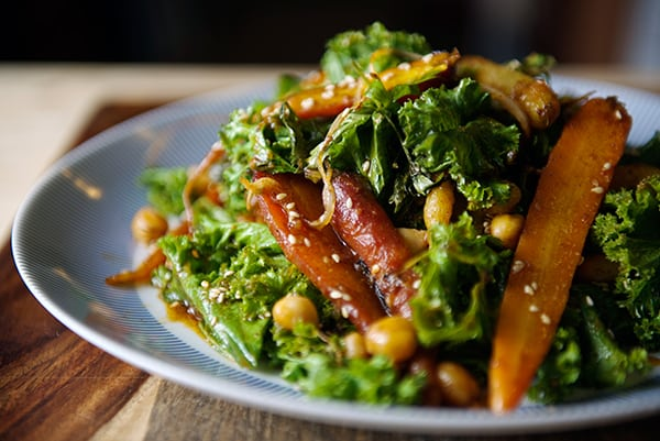 Roasted-Carrot-Salad-with-Hummus-Vinaigrette~-warm-salad-for-the-winter