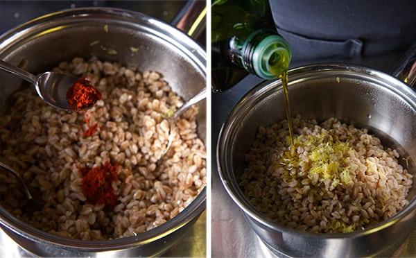 Warm-Farro-asparragus-and-poached-egg-seasoning-the-farro