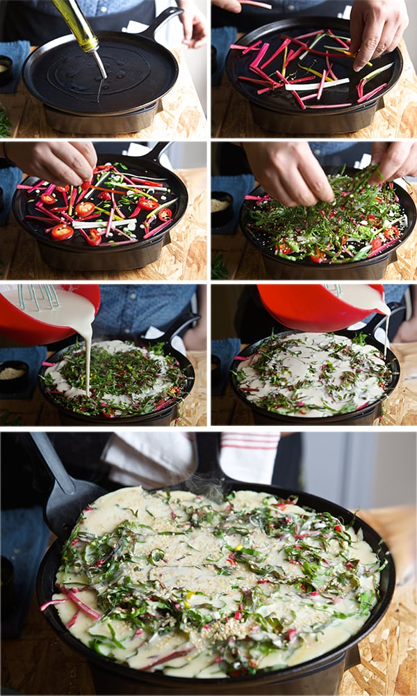 Rainbow-Chard-Korean-Pancake-Steps