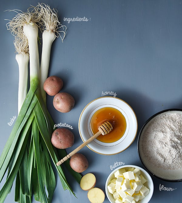 Leek-Tarte-tatin_ingredients