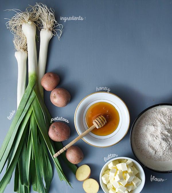 Leek-Tarte-tatin_ingredients
