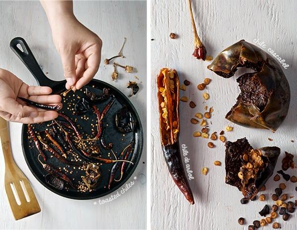 Salsa-Roja-Asada_Toasting-chiles
