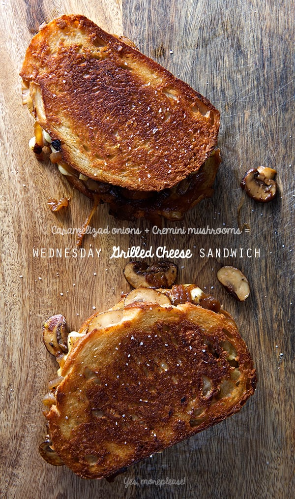 Wednesday-Grilled-cheese-sandwich--Caramelized-onions-+-cremini-mushrooms