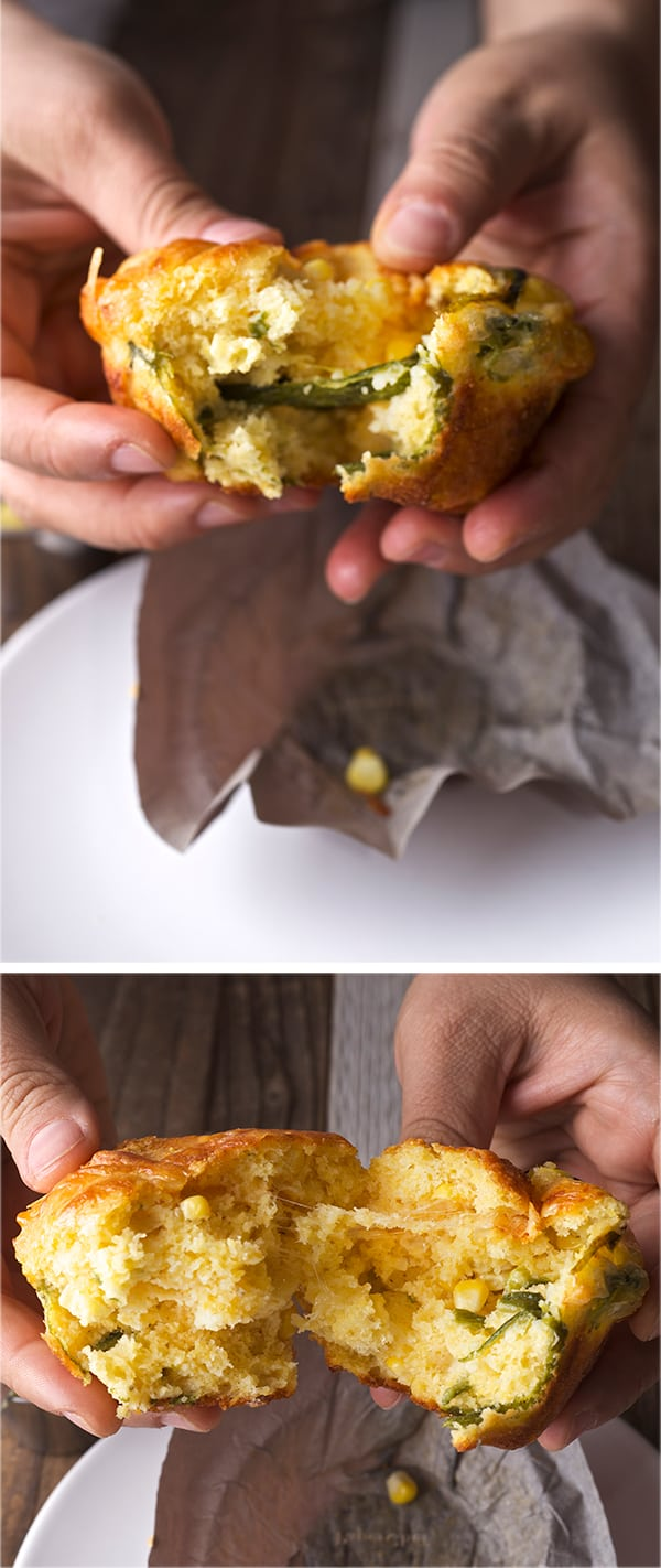 Corn-Bread-Muffins-with-Poblano-Peppers-and-Smoked-gouda-Cheese_tear-apart