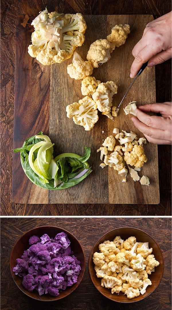 Cauliflower-Chowder_how-to-cut-Florets