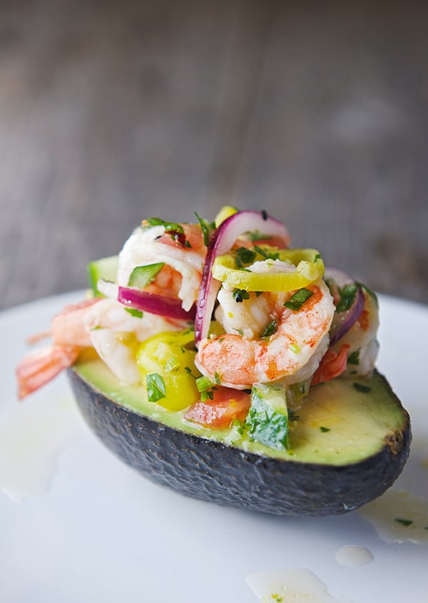 Peperoncini-Shrimp-Ceviche-Stuffed-Avocados_Best-avocado-recipe_Yes,-more-please!