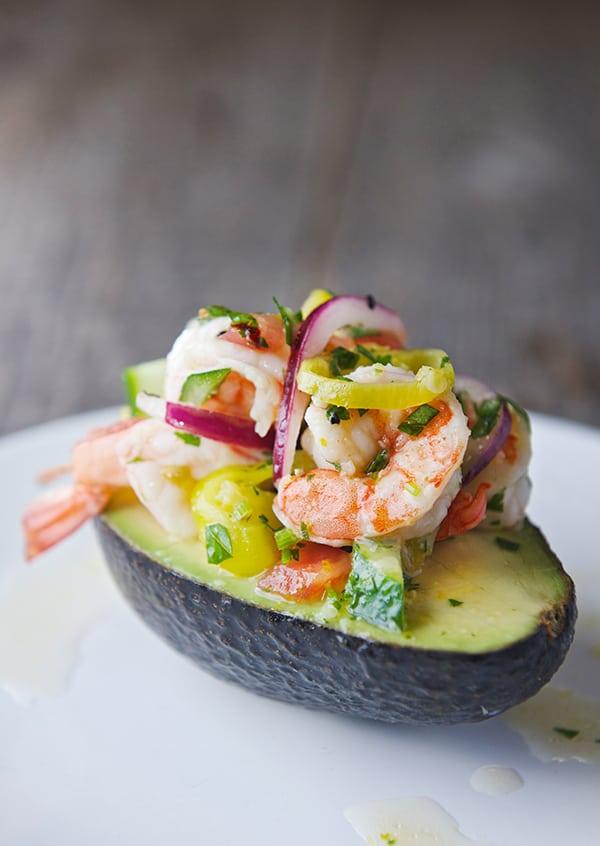 Peperoncini-Shrimp-Ceviche-Stuffed-Avocados_Best-avocado-recipe_Yes,-more-please!