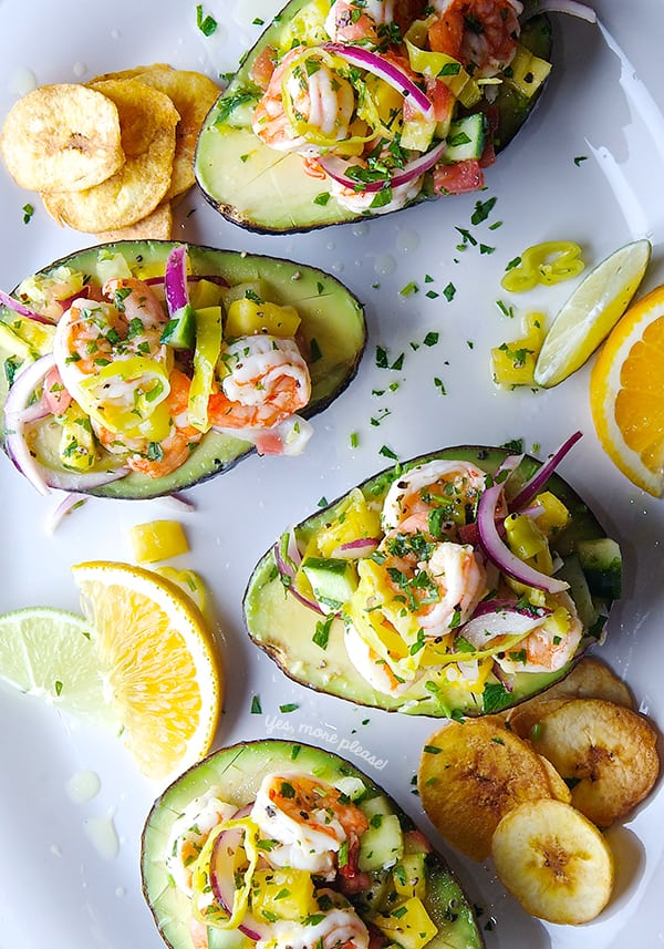 Peperoncini-Shrimp-Ceviche-Stuffed-Avocados_Summer_Avocados_Fresh_-entertaining_Yes,-more-please!