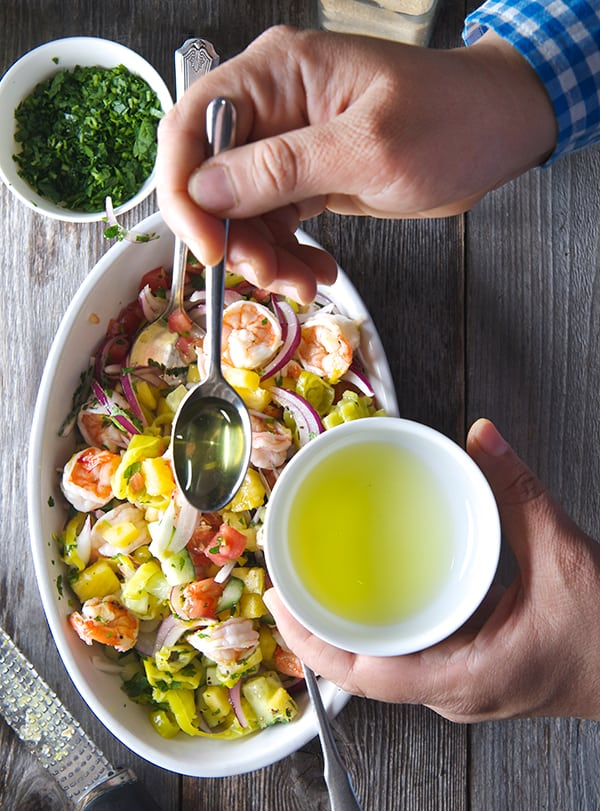 Peperoncini-Shrimp-Ceviche-Stuffed-Avocados_making-ceviche_Mezzetta-golden-greek-peperoncini-brine_Yes,-more-please!-